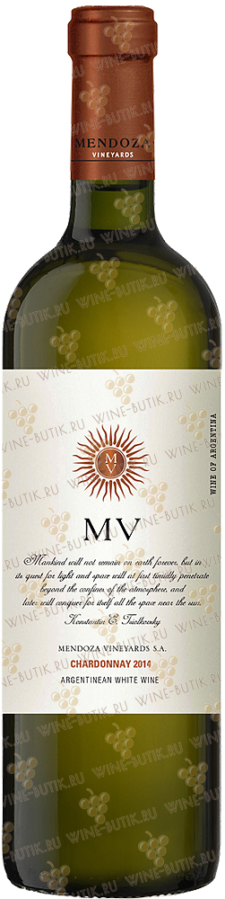 Вино  Mendoza Vineyards  Mendoza Vineyards Chardonnay Mendoza 2014