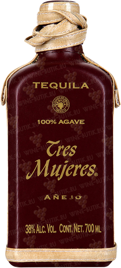 Крепкие  Tequila Tres Mujeres, S.A. De C.V.  Tres Mujeres Anejo in leather design