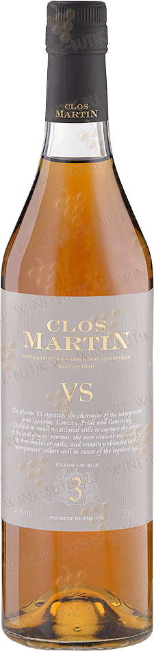 Крепкие  Clos Martin  Clos Martin VS 3 years old