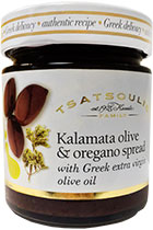 Kalamata olive and oregano spread with Greek extra virgin olive oil