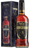 Крепкие напитки Brandy Soberano 5 years gift box
