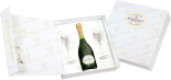 Вино Cuvee Des Moines Brut Besserat de Bellefon with 2 glasses gift box