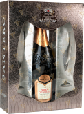 Вино Gran Dessert Santero gift box with 2 glasses