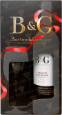 Вино Barton & Guestier Cabernet Sauvignon Reserve 2015 with a glass in gift box