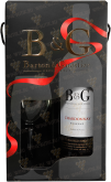 Вино Barton & Guestier Chardonnay Reserve 2015 with a glass in gift box