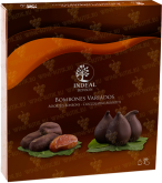 Деликатесы Figs and dates in chocolate INDEAL in box 12 pcs
