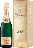 Вино Lanson Gold Label Brut 2008 gift box