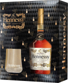 Крепкие напитки Hennessy VS 0.7l with 2 glasses gift box
