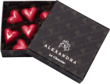 "Деликатесы Set of sweets ""Red hearts"" 7 pcs in gift box"