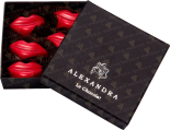 "Деликатесы Set of sweets ""Red lips"" 6 pcs in gift box"