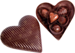"Деликатесы Set of sweets ""Chocolate heart"" 5 pcs in the chocolate box"