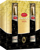 Вино Gift Case for 2 bottles of wine Tosti Asti, Tosti Asti Secco DOCG