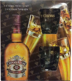 Крепкие напитки Chivas Regal 12 years gift box with 2 glasses