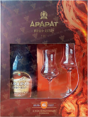 Крепкие напитки Ani 6 years old souvenir set with 2 glasses