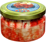 Деликатесы Canned Crab Lux glass jar 230 gr
