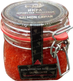 Деликатесы Salmon Caviar (red salmon) glass jar 500 gr