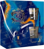 Крепкие напитки Chivas Regal 18 years old limited edition Manchester United gift set with 2 glasses