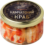 Деликатесы Canned Crab Premium glass jar 250 gr