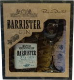 Крепкие напитки Barrister Dry Gin with a glass gift box