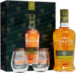 Крепкие напитки Tomatin 12 Years gift set with 2 glasses