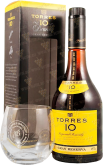 Крепкие напитки Torres 10 years Gran Reserva gift box with glass