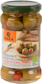 Деликатесы GAEA Organic green olives stuffed with natural pimento in glass 295 gr