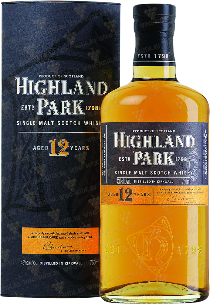 Крепкие  Highland Park  Highland Park 12 years  in gift box
