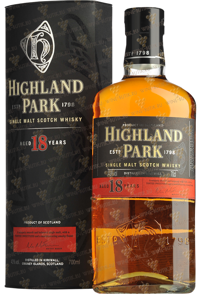 Крепкие  Highland Park  Highland Park 18 years in gift box