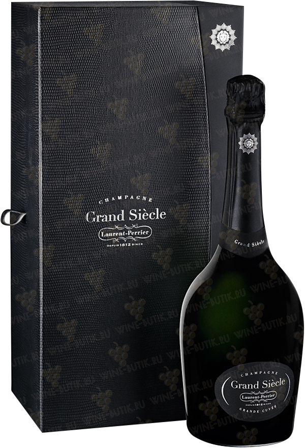 Вино  Laurent-Perrier  Laurent-Perrier Grand Siecle with 2 glasses in gift box