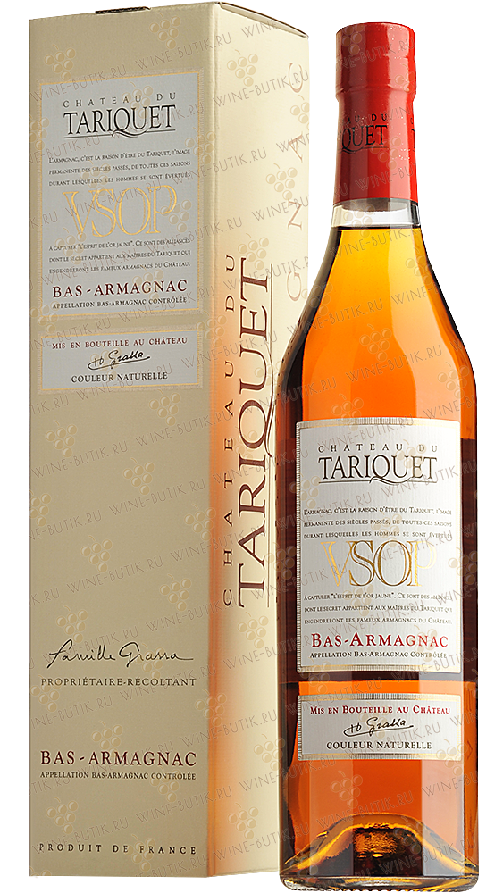 Крепкие  Chateau du Tariquet  Chateau du Tariquet VSOP in gift box