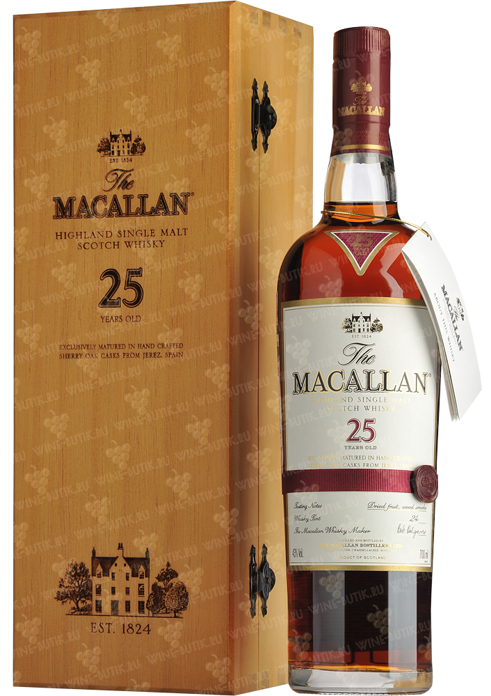 Крепкие  Macallan  Macallan 25 years Sherry Oak Single malt Speyside