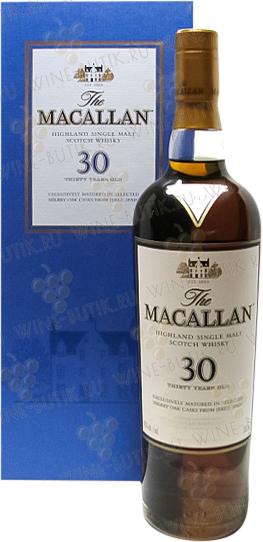 Крепкие  Macallan  Macallan 30 years Sherry Oak Single malt Speyside