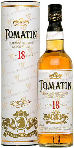 Крепкие  Tomatin Distillery  Tomatin 18 years gift box