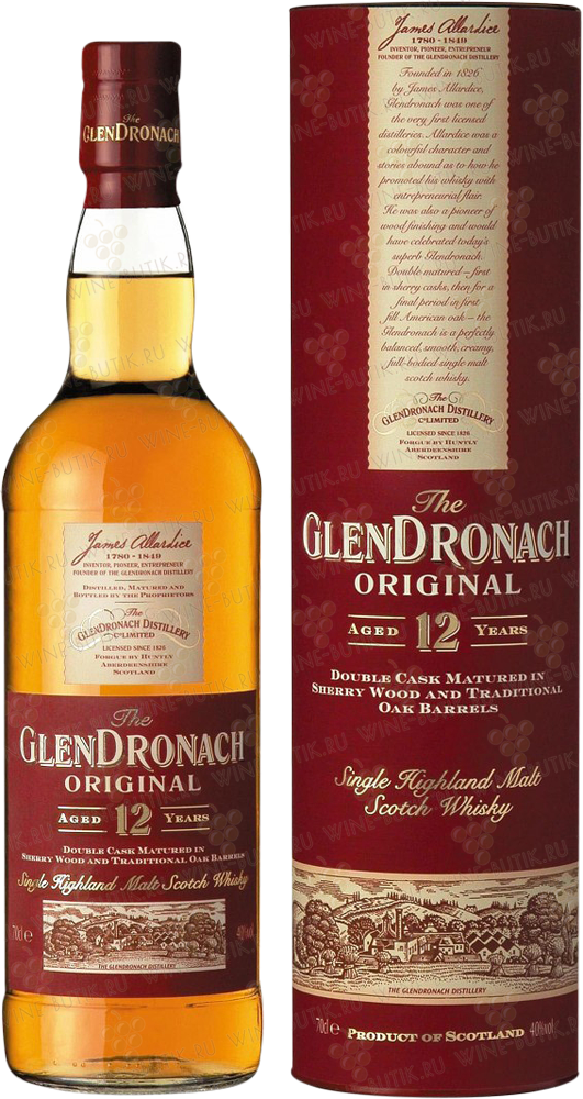 Крепкие  Glendronach  Glendronach 12 years Original Single malt Speyside