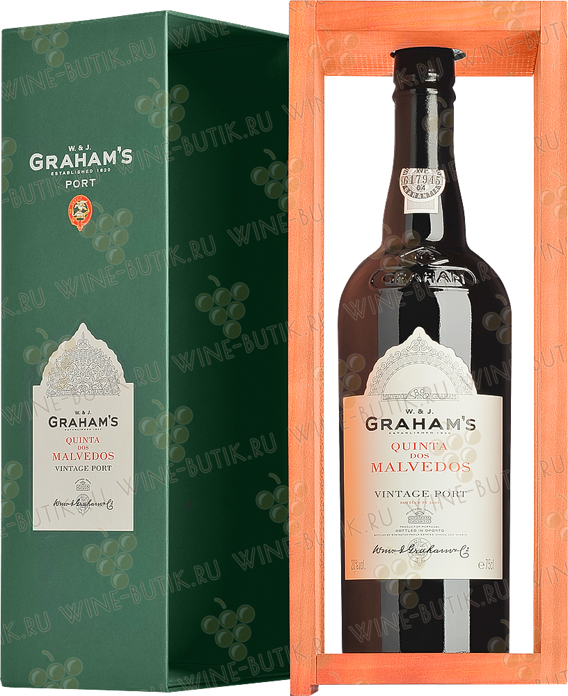 Вино  Graham's  Graham's Single Quinta dos Malvedos Vintage 2001 gift box