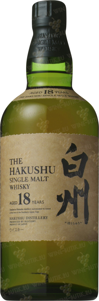 Крепкие  Suntory  Hakushu 18 years in gift box