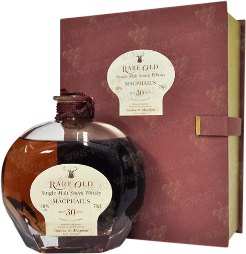 Крепкие  Gordon&Macphail  MacPhails 30 years in crystal decanter