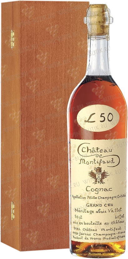 Крепкие  Chateau de Montifaud  Chateau de Montifaud Heritage Louis Vallet 50 years in gift box