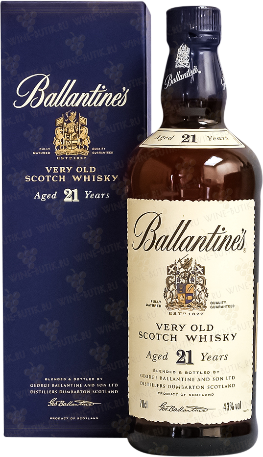 Крепкие  George Ballantine and Son LTD  Ballantines Aged 21 years