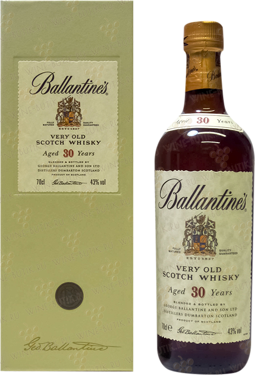 Крепкие  George Ballantine and Son LTD  Ballantines Aged 30 years