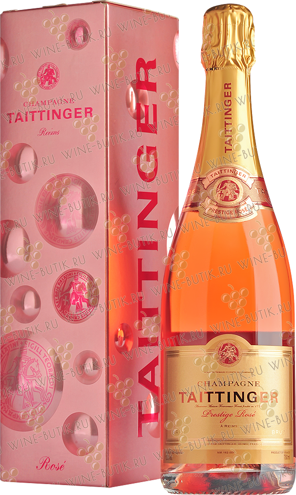 Вино  Taittinger  Taittinger Brut Prestige Rose gift box