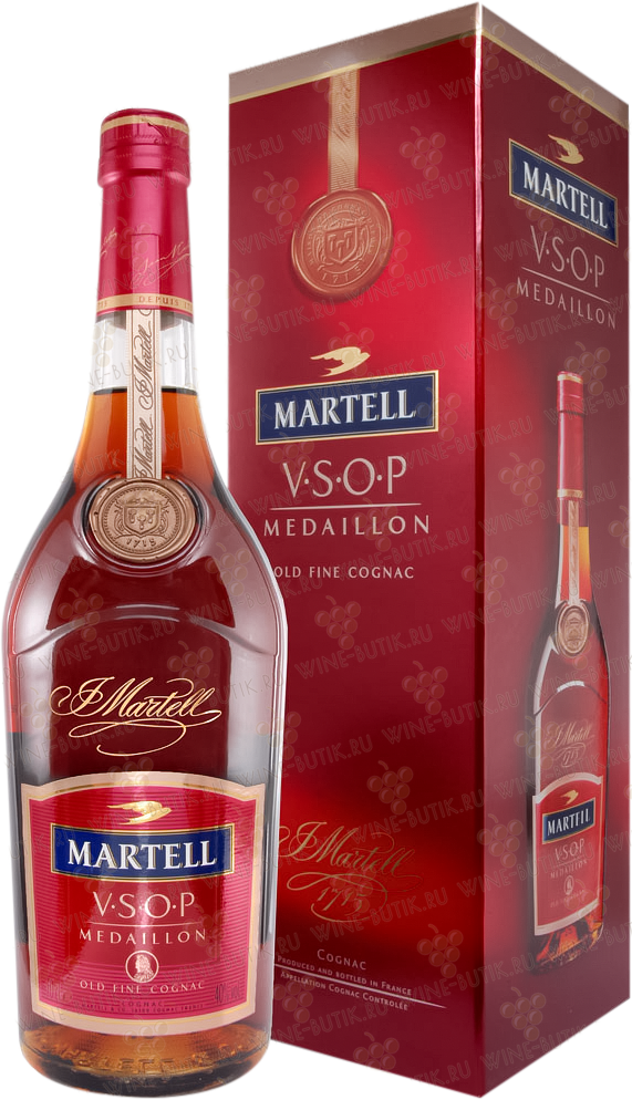Крепкие  Martell&Co  Martell VSOP Medalion gift box