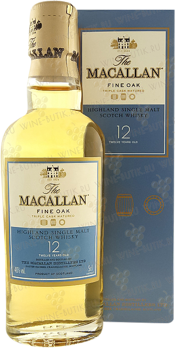 Крепкие  Macallan  Macallan 12 years Fine Oak Single malt Speyside 0,05L