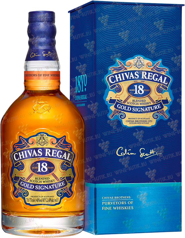 Крепкие  Chivas Regal  Chivas Regal 18 years in gift box