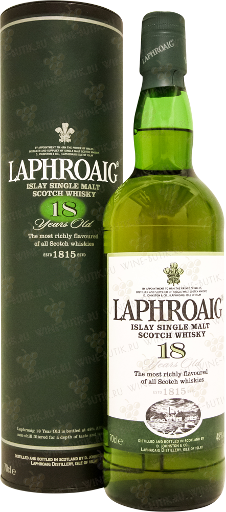 Крепкие  Laphroaig Distillery  Laphroaig 18 years in gift box