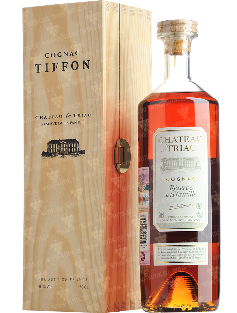 Крепкие  Tiffon  Chateau de Triac Reserve de Famille in gift box