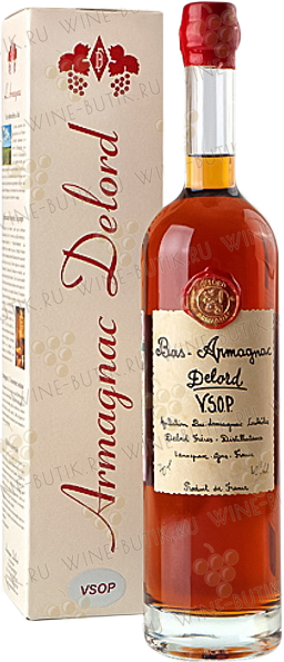 Крепкие  Delord  Bas-Armagnac Delord VSOP (in gift box)