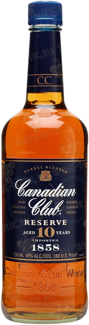 Крепкие  Canadian Club  Canadian Club Reserve 10 years