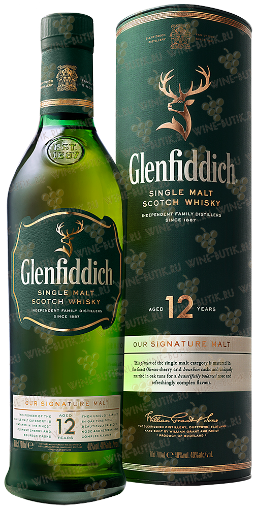 Крепкие  William Grant & Sons  Glenfiddich 12 years Single Malt Scotch