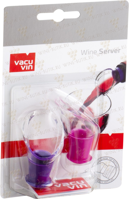Бокалы и аксессуары  Vacu Vin  Vacu Vine Wine Server Crystal Pink/Purple